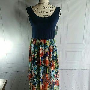 Le Lis Dresses Nwt 2fer Maxi Dress Cutout Back Poshmark